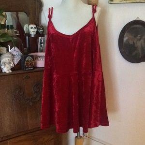 Red velvet swing top string straps